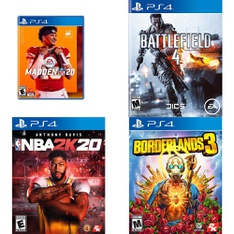 95 Pcs - Sony Video Games - Like New, Used, New - Madden NFL 20 (PS4), NBA 2K20 (PS4), Battlefield 4 (PS4), Borderlands 3 (PS4)