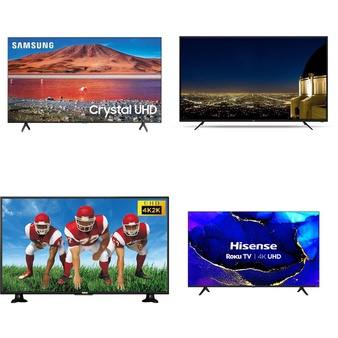 6 Pcs – LED/LCD TVs – Refurbished (GRADE A) – RCA, HISENSE, Samsung