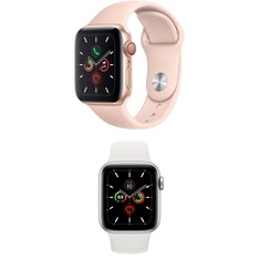 5 Pcs – Apple Watch – Series 5 – 40MM – Cell – Refurbished (GRADE A) – Models: MWWP2LL/A, MWWN2LL/A