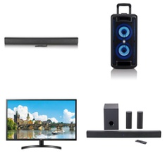 Pallet - 39 Pcs - Speakers, Monitors - Customer Returns - Onn, LG, EPSON, Canon