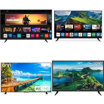 5 Pcs – LED/LCD TVs – Refurbished (GRADE C, GRADE D) – VIZIO, Onn