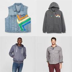150 Pcs - Men`s T-Shirts, Polos, Sweaters - New - Retail Ready - EV LGBT Pride, Goodfellow & Co, FOCO, Old Varsity Brand