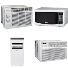 Pallet – 11 Pcs – Air Conditioners, Microwaves – Customer Returns – Tosot, RCA, Midea, Sunbeam