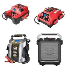 Pallet - 43 Pcs - Power, Portable Speakers, Automotive Accessories - Customer Returns - EverStart, Stanley