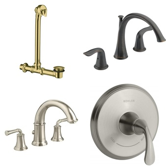19 Pcs – Hardware – Used, New Damaged Box, Open Box Like New – Retail Ready – Kohler, Delta, American Standard, Delta Faucet