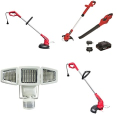3 Pallets - 99 Pcs - Patio & Outdoor Lighting / Decor, Trimmers & Edgers, Accessories, Hedge Clippers & Chainsaws - Customer Returns - Hyper Tough, Sunforce, Mainstay's, Suncast