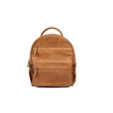 17 Pcs – Quagga Buffalo Leather Backpack, Brown – New – Retail Ready