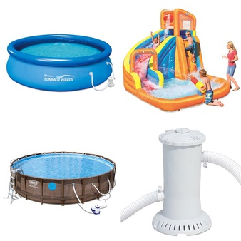 Pallet – 15 Pcs – Pools & Water Fun, Not Powered – Customer Returns – PolyGroup, Neon, Kryptonics, Coleman