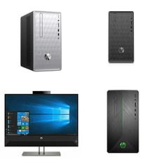 92 Pcs – Desktop & All-In-One Computers – Salvage – HP, OVERPOWERED, LENOVO, CyberpowerPC