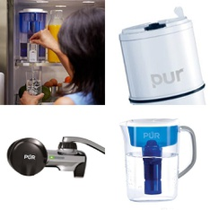 Pallet - 106 Pcs - Kitchen & Dining, Hardware, Kitchen & Bath Fixtures - Customer Returns - PUR, Kaz, Great Value, Razor