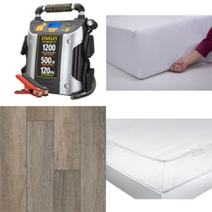 3 Pallets - 102 Pcs - Covers, Mattress Pads & Toppers, Comforters & Duvets, Automotive Accessories, Hardware - Customer Returns - Mainstay's, Stanley, Mainstays, Select Surfaces