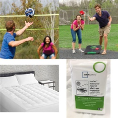 Pallet – 36 Pcs – Covers, Mattress Pads & Toppers, Outdoor Sports, Blankets, Throws & Quilts – Customer Returns – Mainstays, EastPoint Sports, Sertapedic, Go! Gater