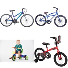 Pallet – 13 Pcs – Cycling & Bicycles – Customer Returns – Movelo, Columbia, Little Miss Matched, Hyper Bicycles
