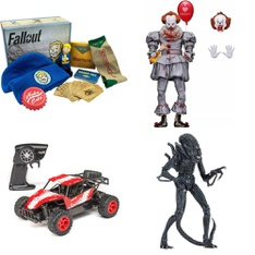 3 Pallets - 102 Pcs - Vehicles, Trains & RC, Action Figures, Boardgames, Puzzles & Building Blocks, Not Powered - Customer Returns - NECA, New Bright, Adventure Force, CultureFly