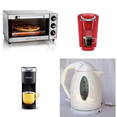 Pallet - 54 Pcs - Toasters & Ovens, Kettles & Ice Tea Makers, Slow Cookers, Roasters, Rice Cookers & Steamers - Customer Returns - Hamilton Beach, Toastmaster, Keurig, Sunbeam