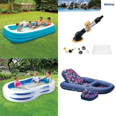 Pallet - 31 Pcs - Pools & Water Fun, Not Powered, Hot Tubs & Saunas - Customer Returns - Play Day, Summer Waves, Bestway, SwimSchool