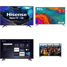 5 Pcs – LED/LCD TVs – Refurbished (GRADE A) – RCA, HISENSE, TCL