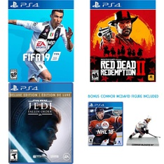 28 Pcs – Nintendo Video Games – Open Box Like New, Like New – FIFA 19 (PS4), NHL 19 (PS4), Call of Duty : Black Ops 4 (PS4), NHL 18 Figure Bundle (PS4)