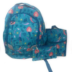 6 Pcs – CRCKT Mermaid Backpack Lunch Kit and Accessory Bag-3 Pieces Set – New – Retail Ready