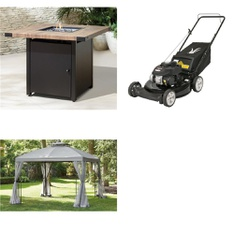 Pallet – 3 Pcs – Patio – Customer Returns – HomeTrends, Yard Machines