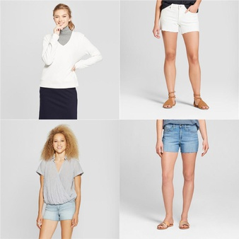 168 Pcs – Womens, Jeans, Pants, Legging & Shorts, T-Shirts, Polos, Sweaters & Cardigans – New – Retail Ready – Universal Thread, A New Day, Mad Love, Medela