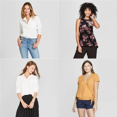 60 Pcs - Shirts & Blouses - New - Retail Ready - Universal Thread, A New Day, Ava & Viv, Knox Rose