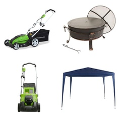 Pallet – 6 Pcs – Trimmers & Edgers, Grills & Outdoor Cooking – Customer Returns – GreenWorks, HomeTrends, Aramco