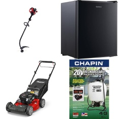 3 Pallets - 40 Pcs - Trimmers & Edgers, Mowers, Bar Refrigerators & Water Coolers, Accessories - Customer Returns - Hyper Tough, Snapper, Galanz, GreenWorks
