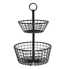 10 Pcs – Member's Mark prod231701 Wire Grid 2-Tier Basket – New – Retail Ready