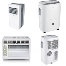 Pallet - 12 Pcs - Air Conditioners, Humidifiers / De-Humidifiers - Customer Returns - TCL, Midea, Arctic King, Stanley
