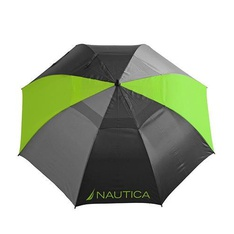 12 Pcs – Nautica NTS19 2-Pack Golf Umbrella Set, Black/Charcoal/Lime – New – Retail Ready