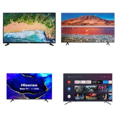 9 Pcs – LED/LCD TVs – Refurbished (GRADE A) – HISENSE, Samsung, TCL