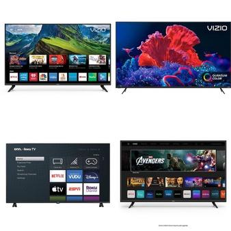 24 Pcs – LED/LCD TVs – Refurbished (GRADE A, GRADE B) – VIZIO, onn., TCL, Samsung