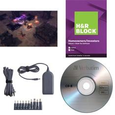 6 Pallets – 790 Pcs – Other, Games, Software, Blu-ray Discs – Customer Returns – Onn, H&R Block, Logitech, Verbatim