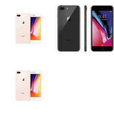5 Pcs - Apple iPhone 8 - Refurbished (GRADE C - Unlocked) - Models: MQ8V2LL/A, 3D061LL/A, MQ8T2LL/A