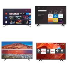 5 Pcs – LED/LCD TVs – Refurbished (GRADE A) – SHARP, HISENSE, TCL, RCA