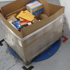 Pallet - 57 Pcs - Office Supplies, Calendars - Like New, New Damaged Box, Damaged/Missing Parts, New, Used, Open Box Like New - Blue Sky, Mead, Case It, X-Acto