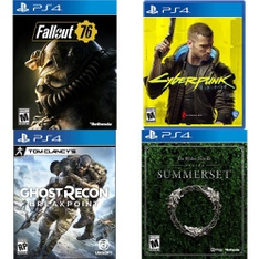 250 Pcs - Sony Video Games - Open Box Like New, New, Used, Like New - Fallout 76(PS4), Cyberpunk 2077 (PS4), Tom Clancy's Ghost Recon Breakpoint PlayStation 4, The Elder Scrolls Online: Summerset (PS4)