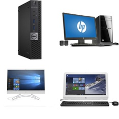 9 Pcs – Desktop & All-In-One Computers – Salvage – HP, DELL, Dell Computers