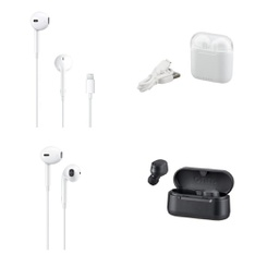 3 Pallets – 1852 Pcs – In Ear Headphones, Over Ear Headphones, Security & Surveillance, Receivers, CD Players, Turntables – Customer Returns – Apple, Blackweb, Onn, Merkury Innovations