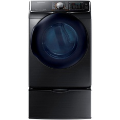 Lowes - Pallet - Samsung DV50K7500GV/A3 Fingerprint Resistant Black Stainless Steel Gas Steam Dryer - New (Scratch & Dent)