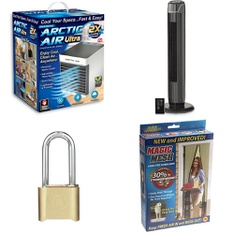 3 Pallets - 128 Pcs - Home Security & Safety, Hardware, Humidifiers / De-Humidifiers, Camping & Hiking - Customer Returns - As Seen On TV, Brink's, Bestway, Brinks