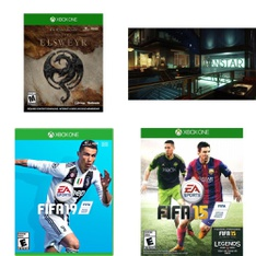 158 Pcs - Microsoft Video Games - New, Used - The Elder Scrolls Online: Elsweyr (Xbox One), FIFA 19 - Standard (XB1), Prey - Xbox One, Tom Clancy's The Division 2 - Xbox One