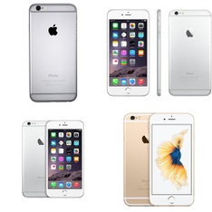 4 Pcs - Apple iPhones - Refurbished (GRADE A, GRADE C - Locked) - Models: MG4W2LL/ARW, MG482J/A, MGAM2LL/A, 3A510LL/A