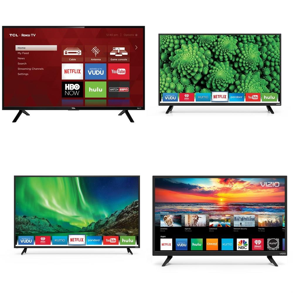 2 Pallets - 38 Pcs - TVs - Tested NOT WORKING (Cracked Display) - VIZIO,  Samsung, TCL, RCA