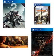 31 Pcs – Sony Video Games – Like New, New, Used – Destiny 2 Standard Edition (PS4), Wolfenstein II: The New Colossus (PS4), Tom Clancy's The Division 2 (PS4), The Elder Scrolls Online: Morrowind (PS4)