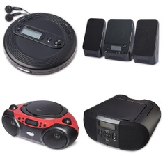 Pallet - 197 Pcs - Accessories, Receivers, CD Players, Turntables, Boombox - Customer Returns - onn., Onn, One For All, GE