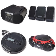 Pallet - 93 Pcs - Accessories, Boombox, Receivers, CD Players, Turntables - Customer Returns - onn., Onn, One For All, CROSLEY