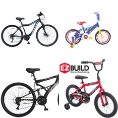 Pallet - 4 Pcs - Cycling & Bicycles - Customer Returns - Hyper Bicycles, Huffy, Paw Patrol