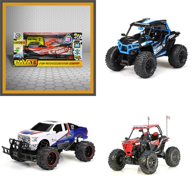 3 Pallets 83 Pcs Vehicles, Trains & RC, Vehicles, Not Powered Customer Returns New Bright, Huffy, Adventure Force, PAVATI